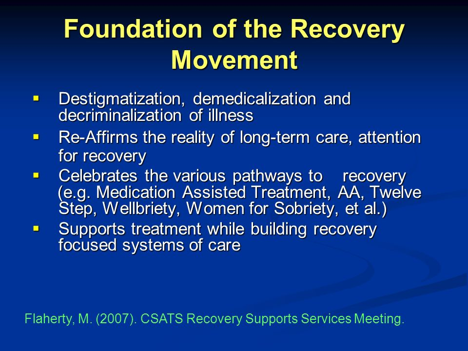 Foundation of the Recovery Movement