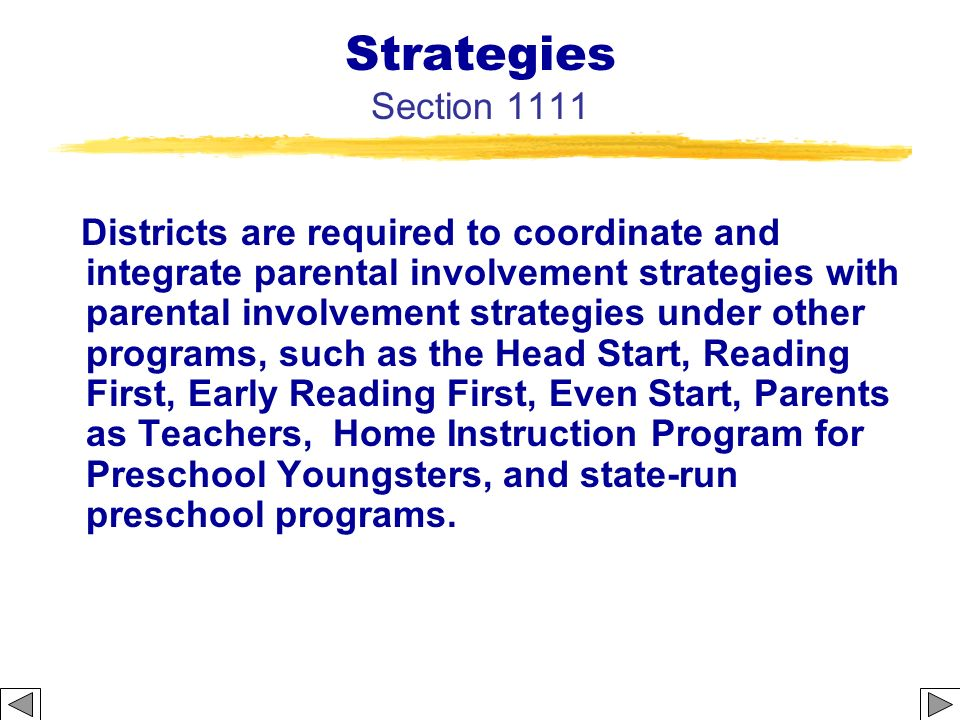 Strategies Section 1111
