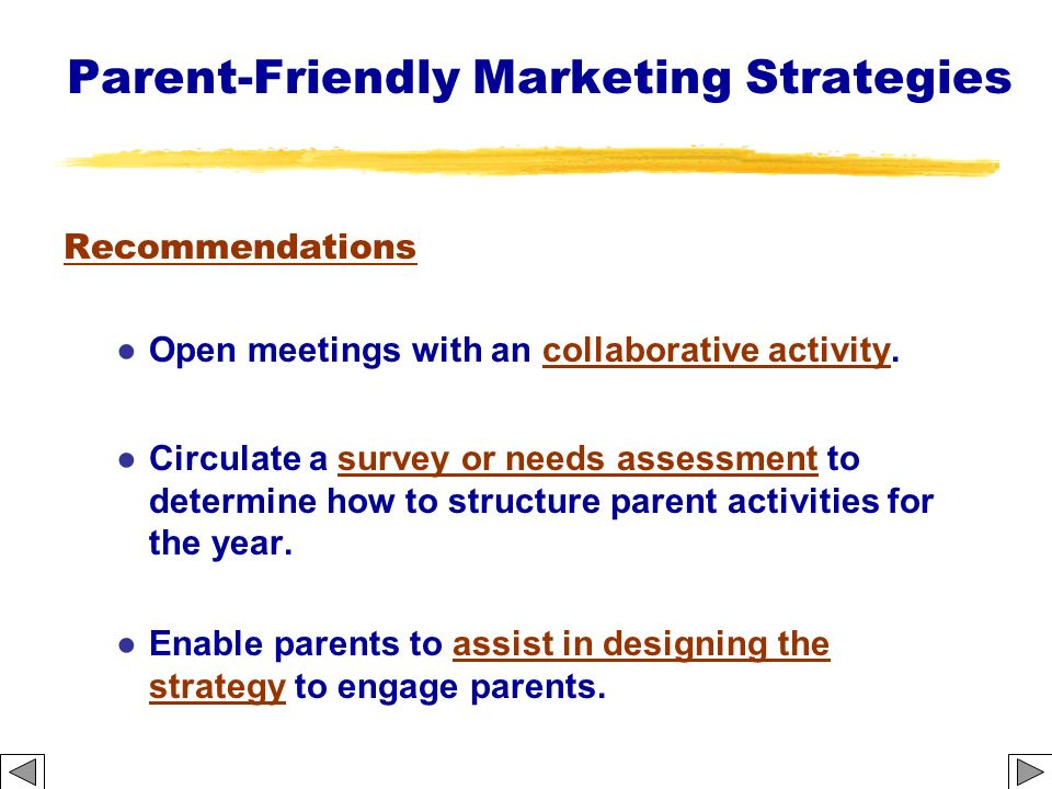 Parent-Friendly Marketing Strategies