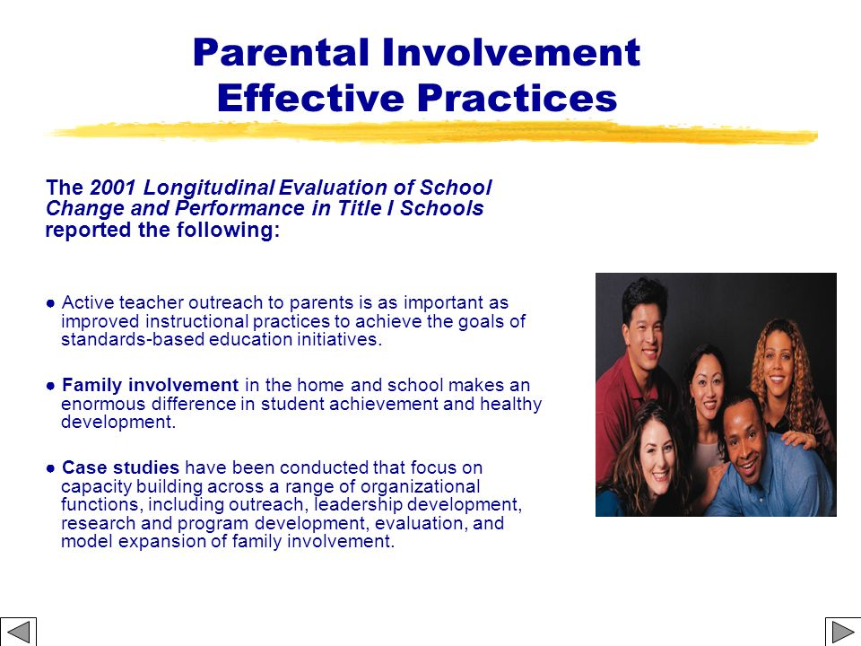 Parental Involvement Effective Practices