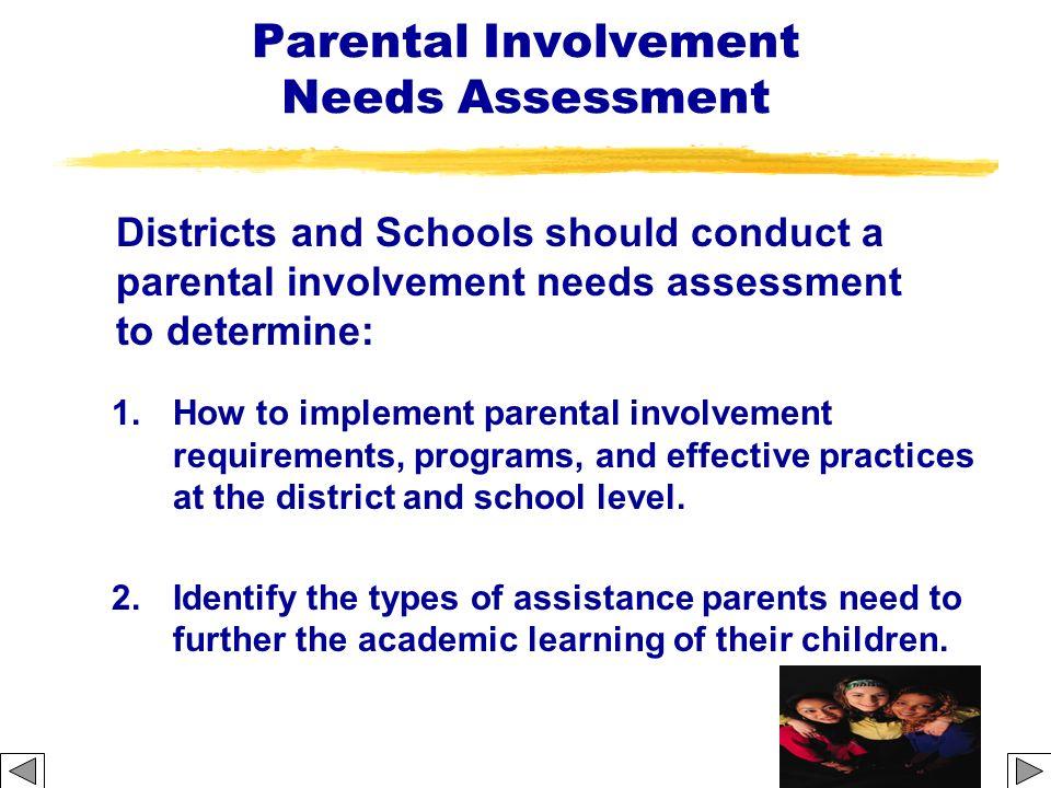Parental Involvement Needs Assessment