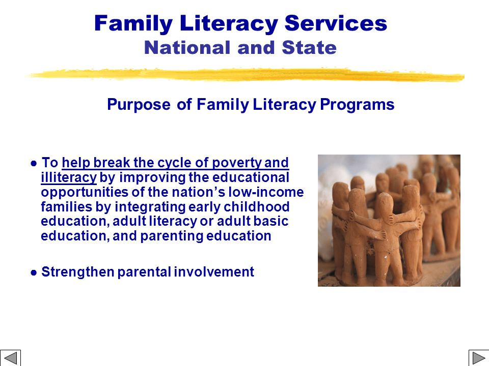 Family Literacy Services National and State