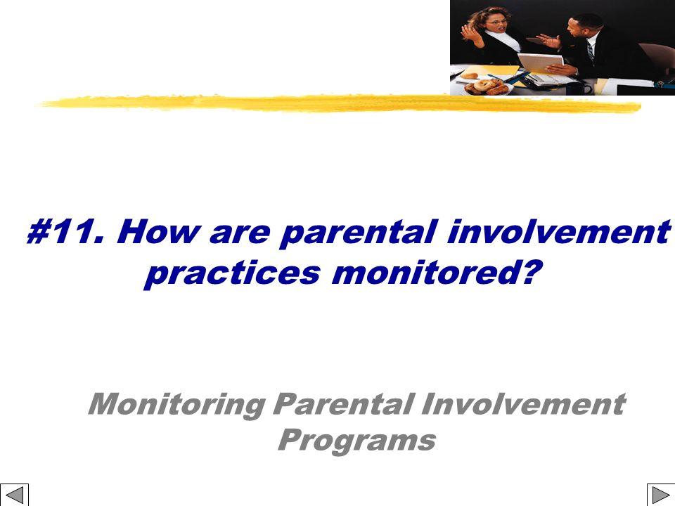 Monitoring Parental Involvement Programs