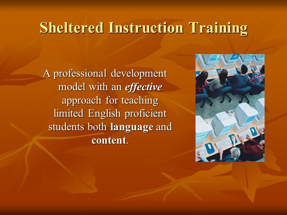 Sheltered Instruction Training