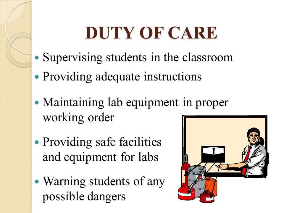 duty of care for students policy Free essay: duty of care document analysis introduction the duty of care policy is a legal document, discussing the importance of student safety and.