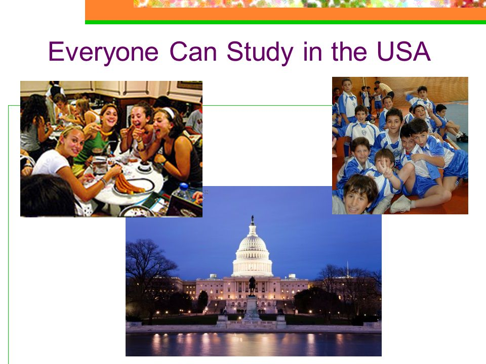 Everyone Can Study in the USA