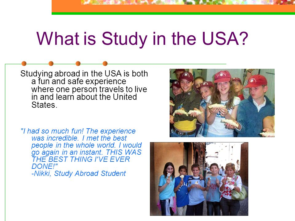 What is Study in the USA