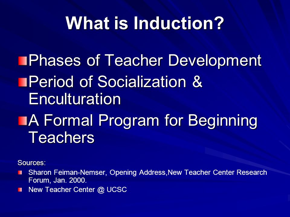 What is Induction Phases of Teacher Development