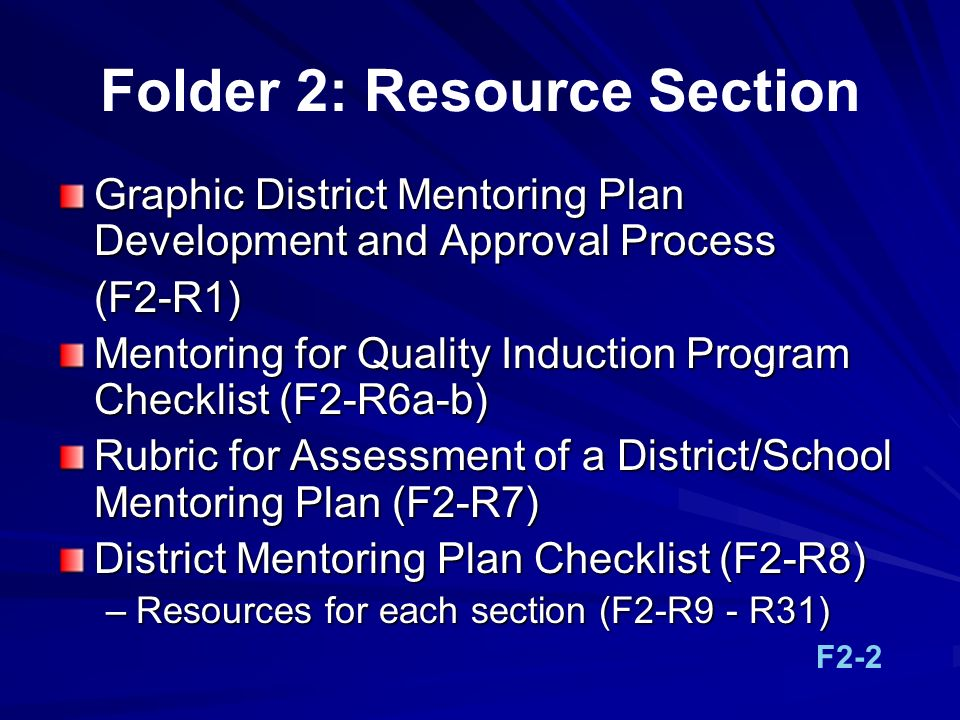 Folder 2: Resource Section