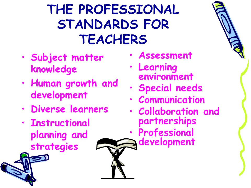 THE PROFESSIONAL STANDARDS FOR TEACHERS