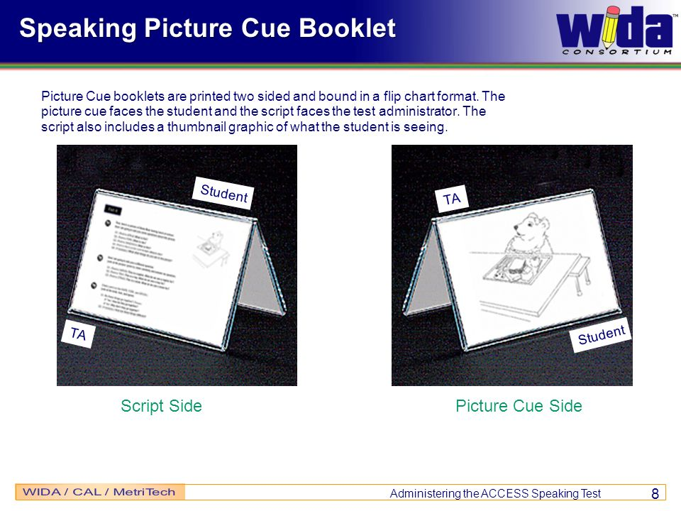 Speaking Picture Cue Booklet