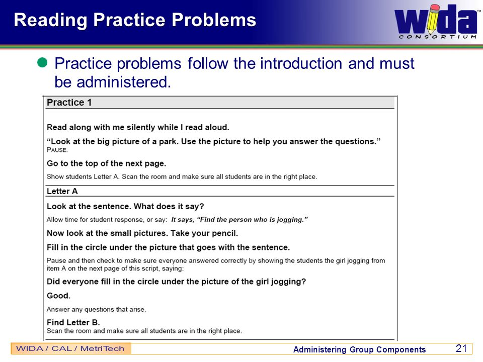 Reading Practice Problems