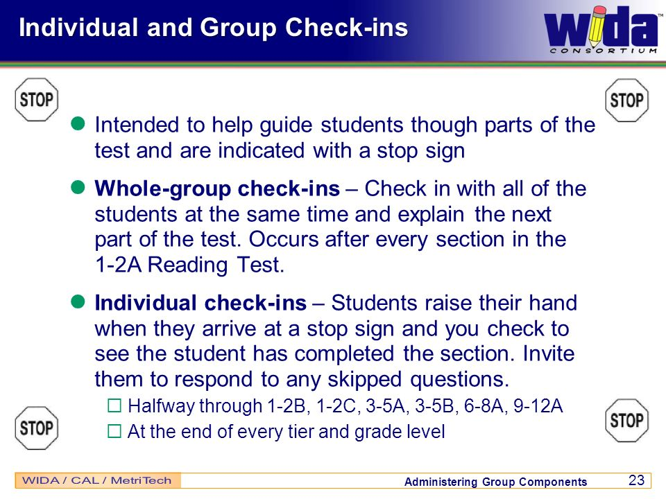 Individual and Group Check-ins