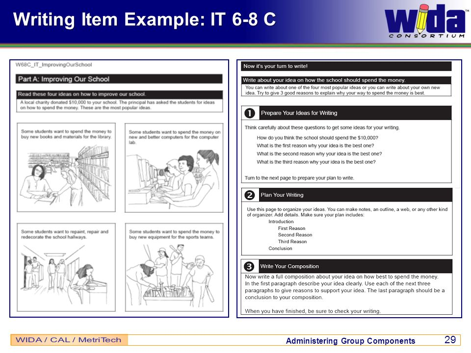 Writing Item Example: IT 6-8 C