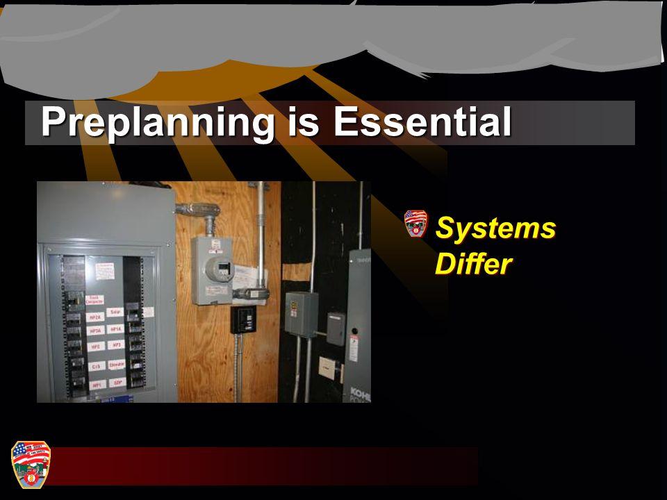 Preplanning is Essential