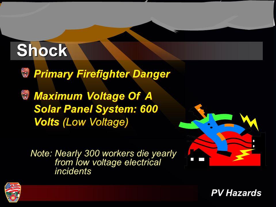 Shock Primary Firefighter Danger