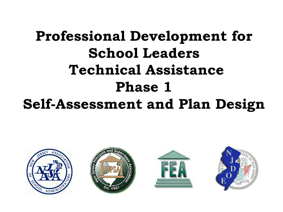 Professional Development for School Leaders Technical Assistance Phase 1 Self-Assessment and Plan Design