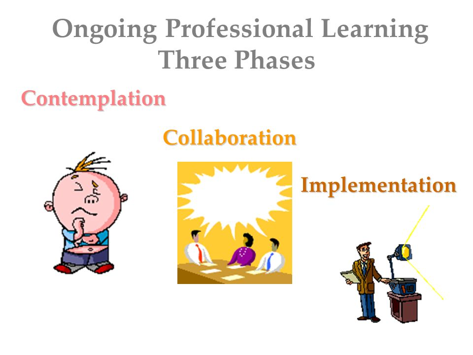Ongoing Professional Learning Three Phases