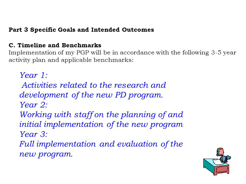 Full implementation and evaluation of the new program.