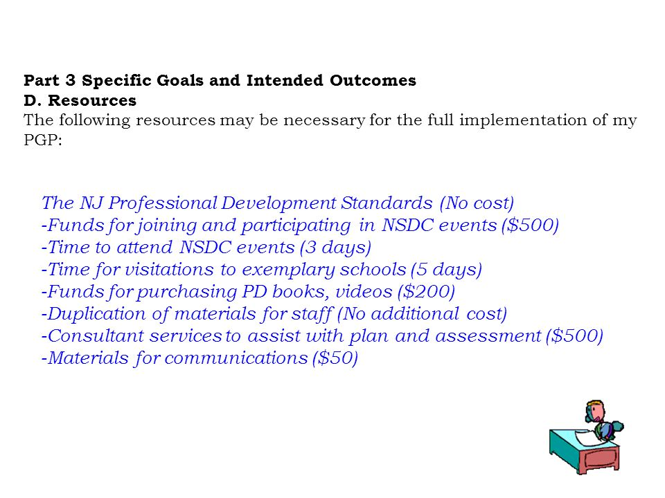 The NJ Professional Development Standards (No cost)