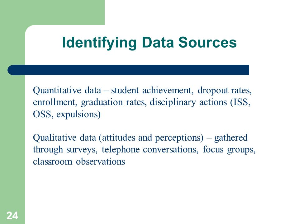 Identifying Data Sources