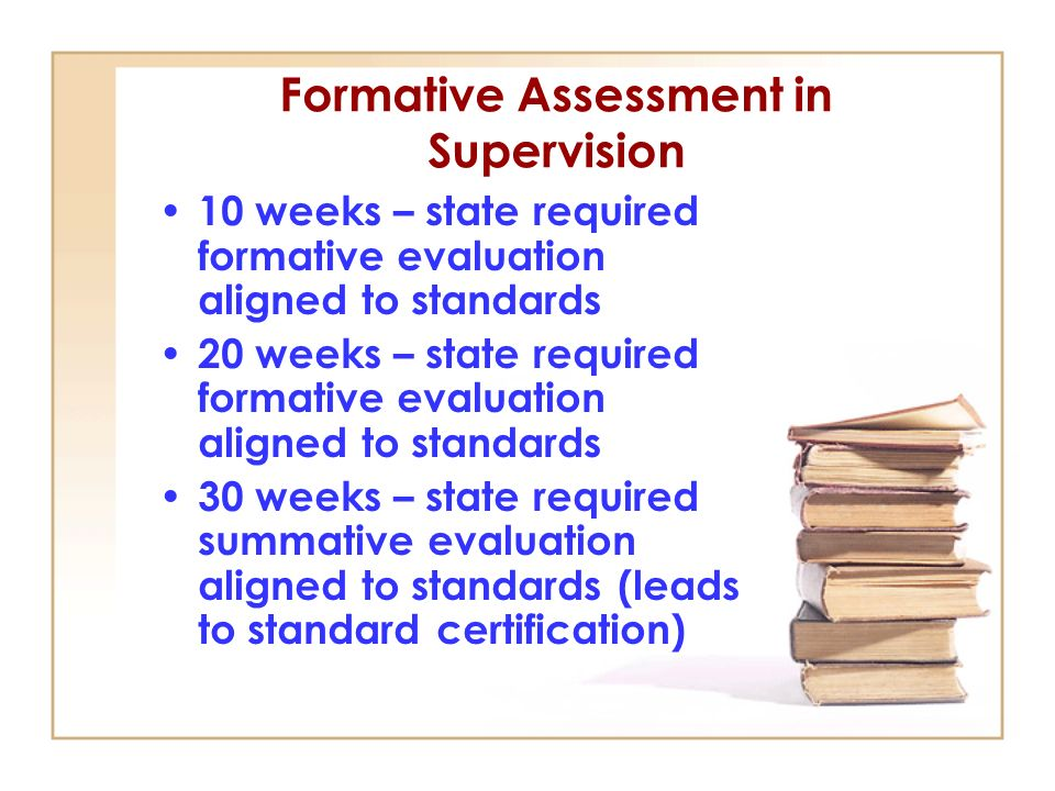 Formative Assessment in Supervision