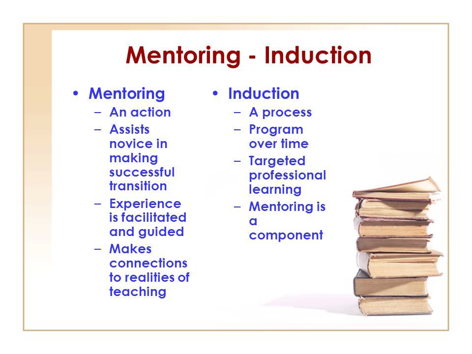 Mentoring - Induction Mentoring Induction An action