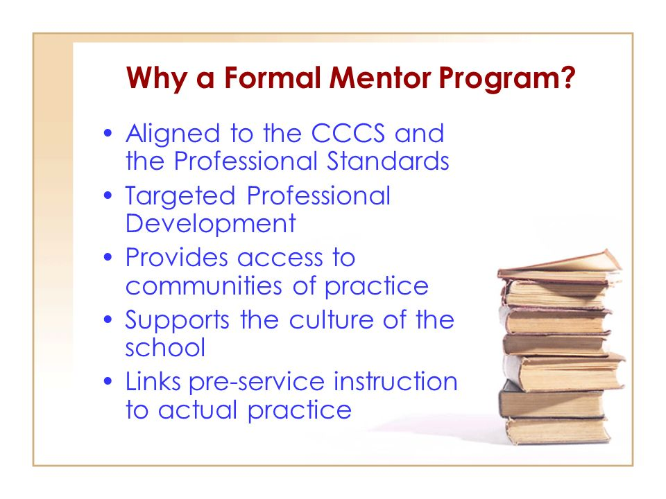 Why a Formal Mentor Program