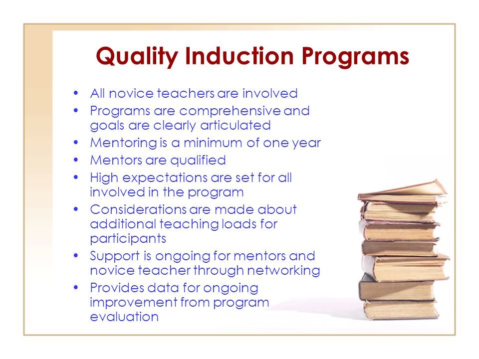 Quality Induction Programs
