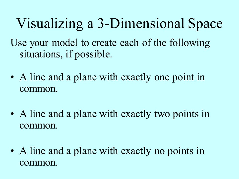 Visualizing a 3-Dimensional Space
