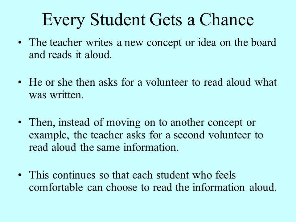 Every Student Gets a Chance