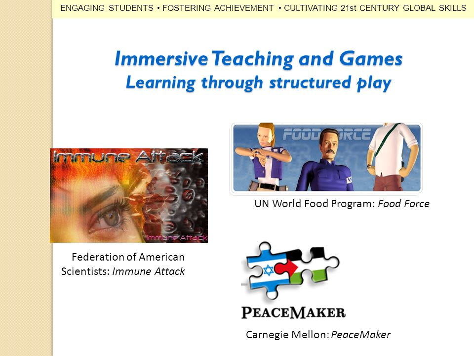 Immersive Teaching and Games Learning through structured play