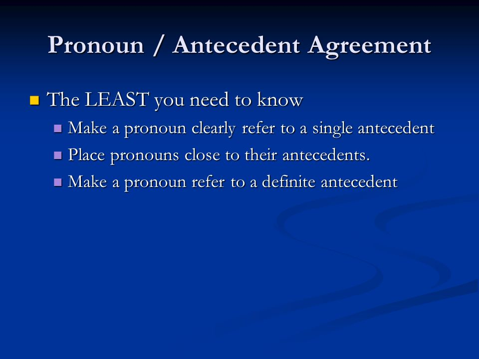 Subject And Verb Pronoun And Antecedent Chapter 5 Ppt