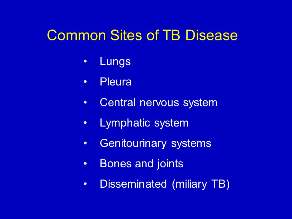 Common Sites of TB Disease