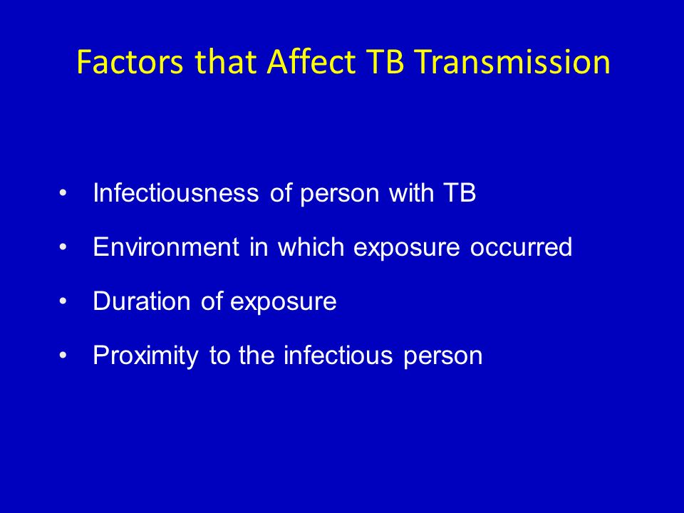 Factors that Affect TB Transmission