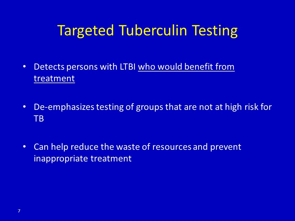 Targeted Tuberculin Testing