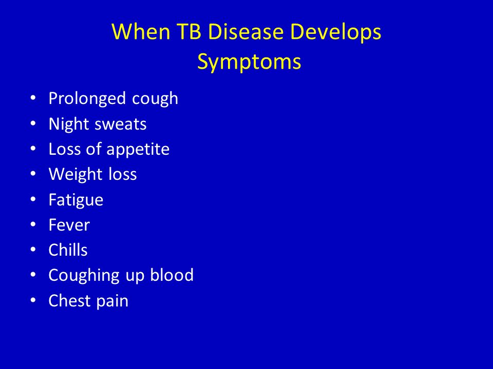 When TB Disease Develops Symptoms