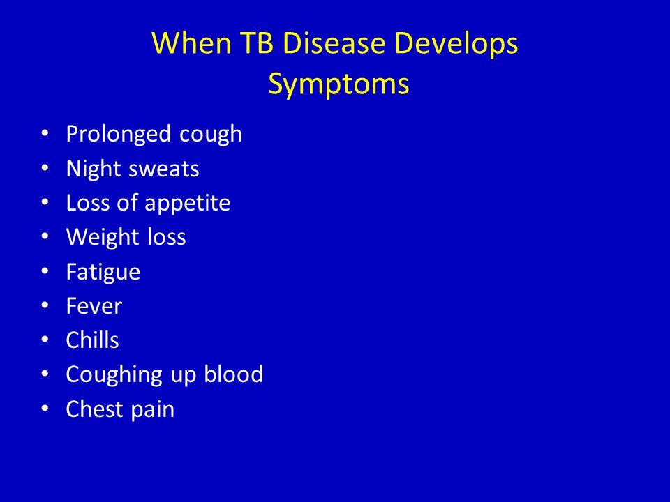 When TB Disease Develops Symptoms