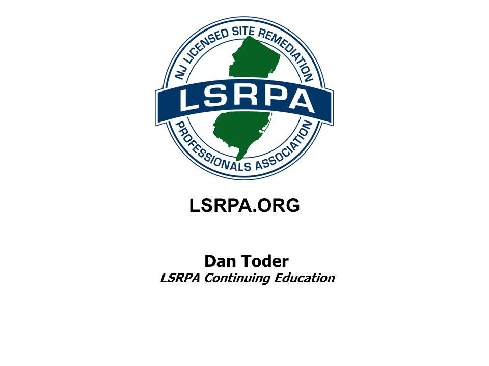 Dan Toder LSRPA Continuing Education