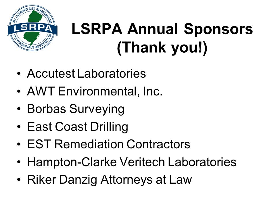 LSRPA Annual Sponsors (Thank you!)