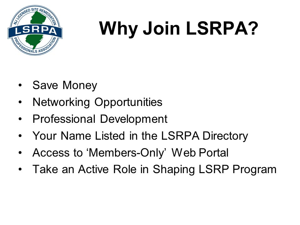 Why Join LSRPA Save Money Networking Opportunities