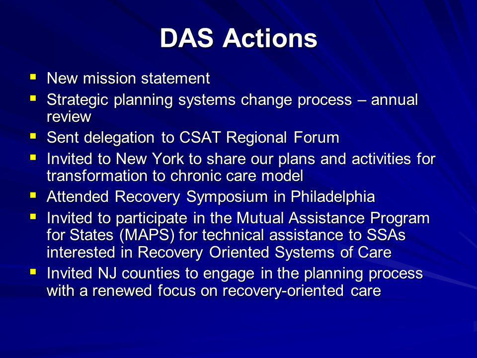 DAS Actions New mission statement