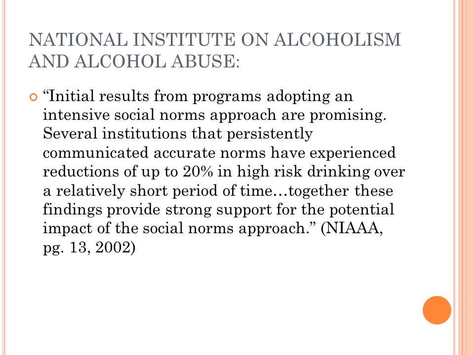 NATIONAL INSTITUTE ON ALCOHOLISM AND ALCOHOL ABUSE: