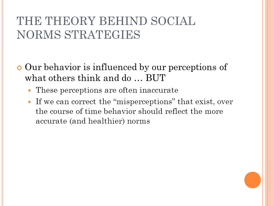 THE THEORY BEHIND SOCIAL NORMS STRATEGIES