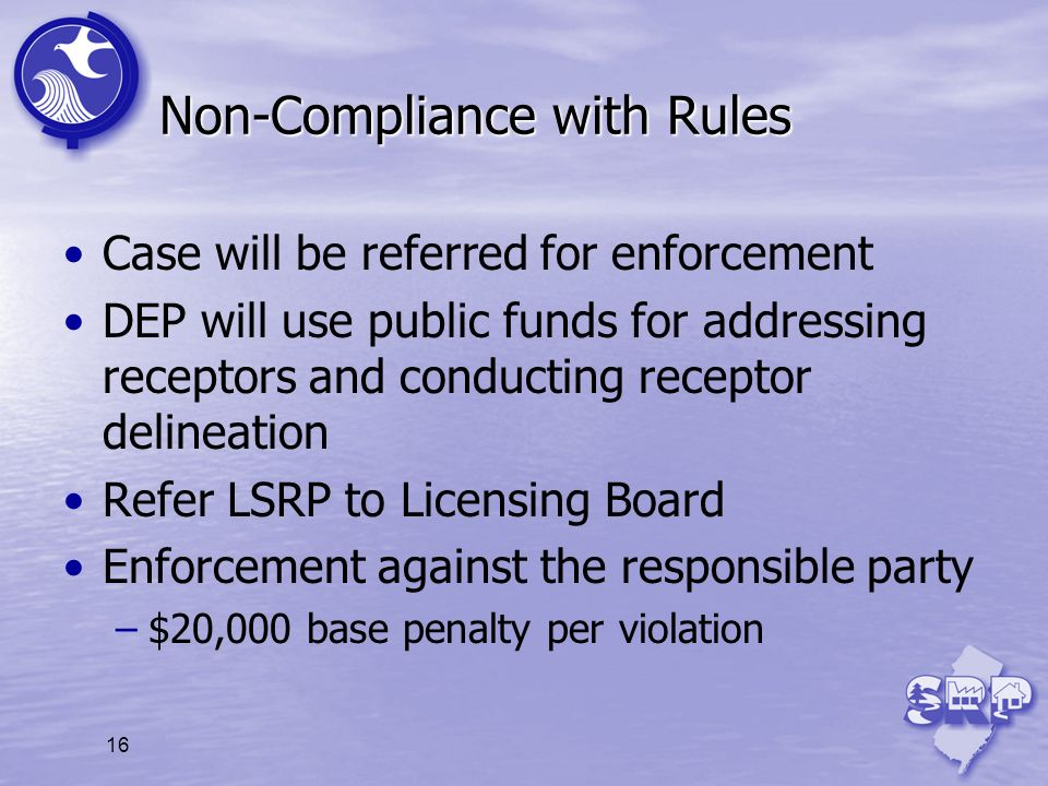 Non-Compliance with Rules