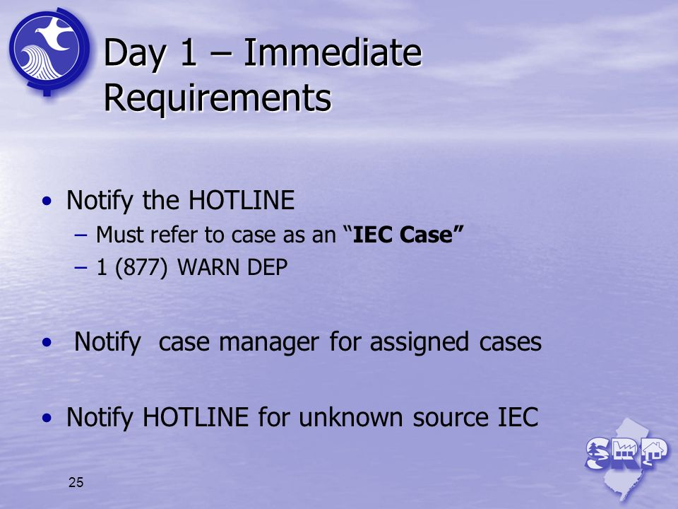 Day 1 – Immediate Requirements