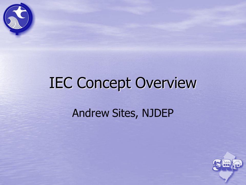 IEC Concept Overview Andrew Sites, NJDEP 3