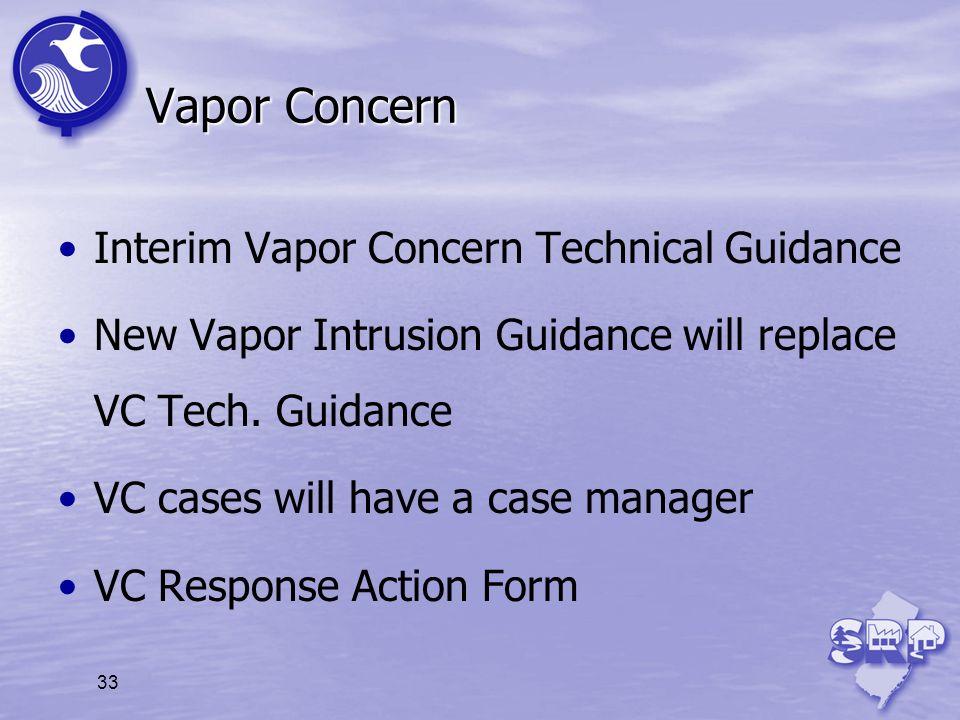 Vapor Concern Interim Vapor Concern Technical Guidance