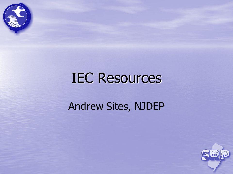 IEC Resources Andrew Sites, NJDEP 37