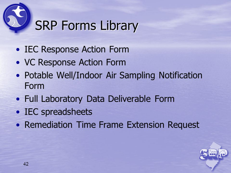 SRP Forms Library IEC Response Action Form VC Response Action Form